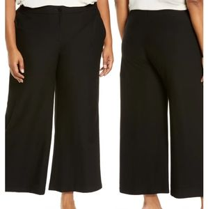 Eileen Fisher |Crepe Wide Leg Ankle Pant